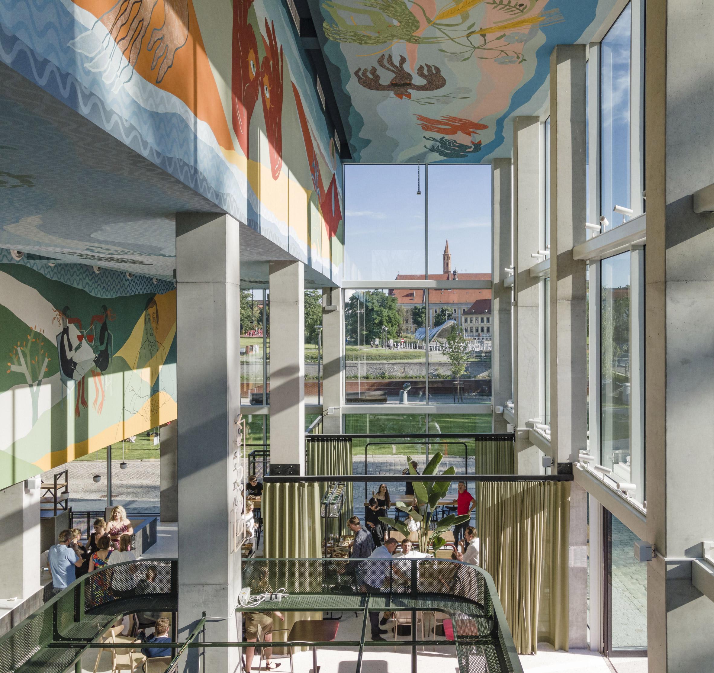 Mural by Alicja Biala for Concordia Design by MVRDV