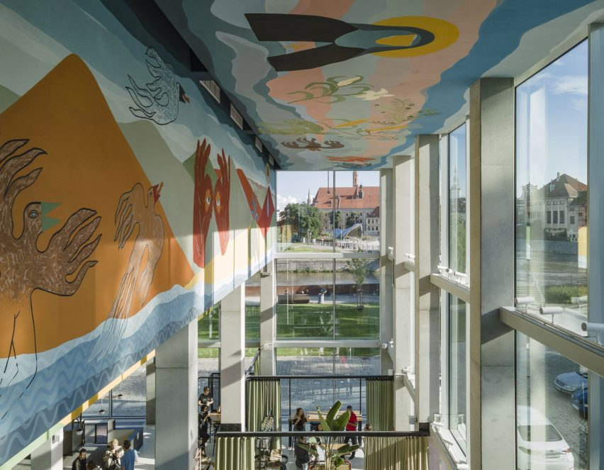Mural at Concordia Design by MVRDV and Alicja Biala