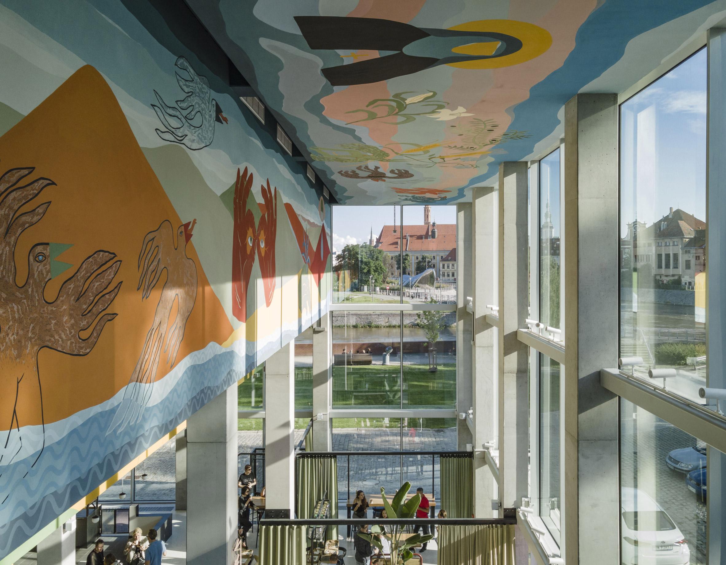 Mural at Concordia Design by MVRDV and Alicja Biala