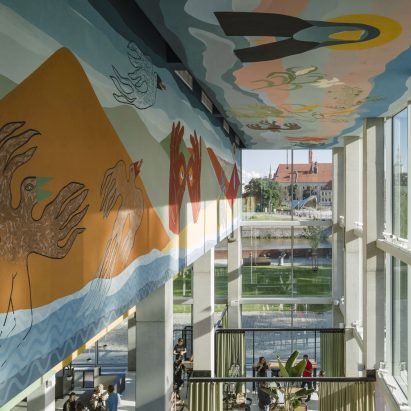 Alicja Biala mural for Concordia Design by MVRDV