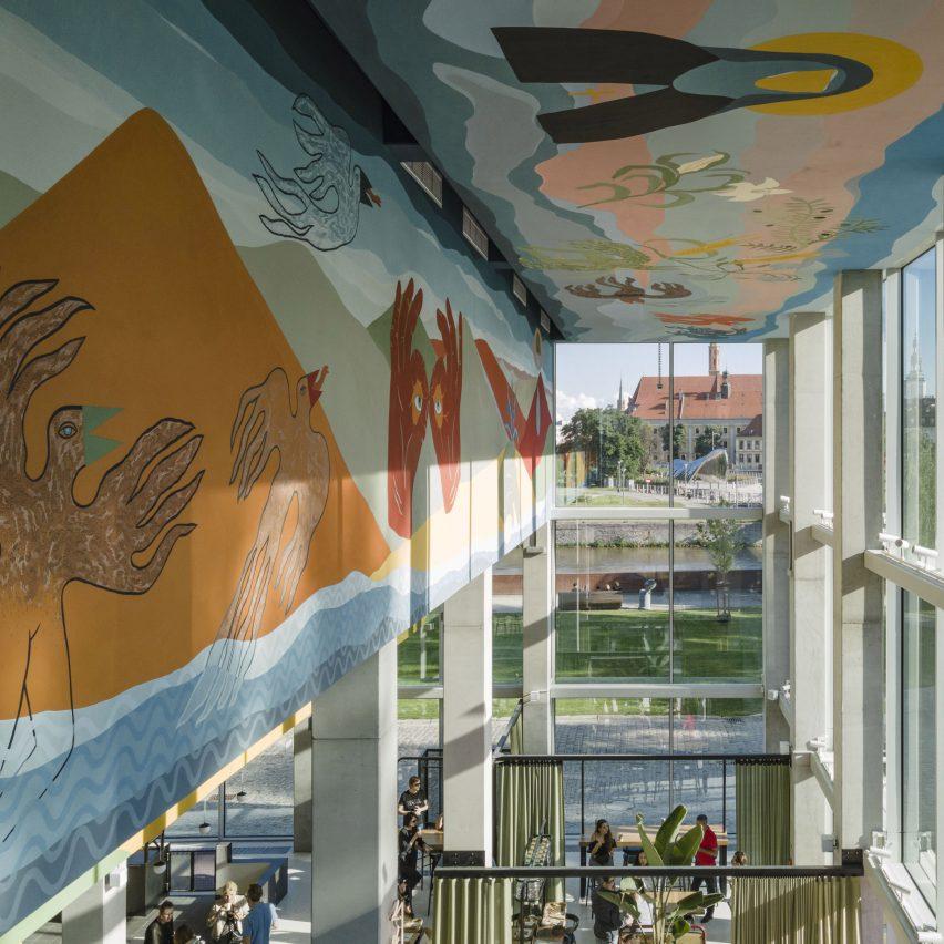 Alicja Biala mural for Concordia Design by MVRDV
