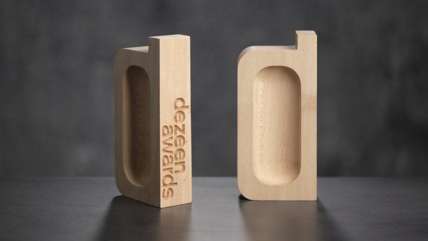 The Deezen Awards trophy designed by Atelier NL