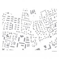 Location plan of The Double Brick House by Arhitektura