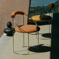 Eclipse dining chair by Atelier de Troupe