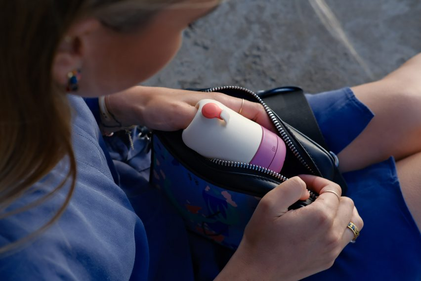 Emanui is a portable and reusable menstrual cup cleaner