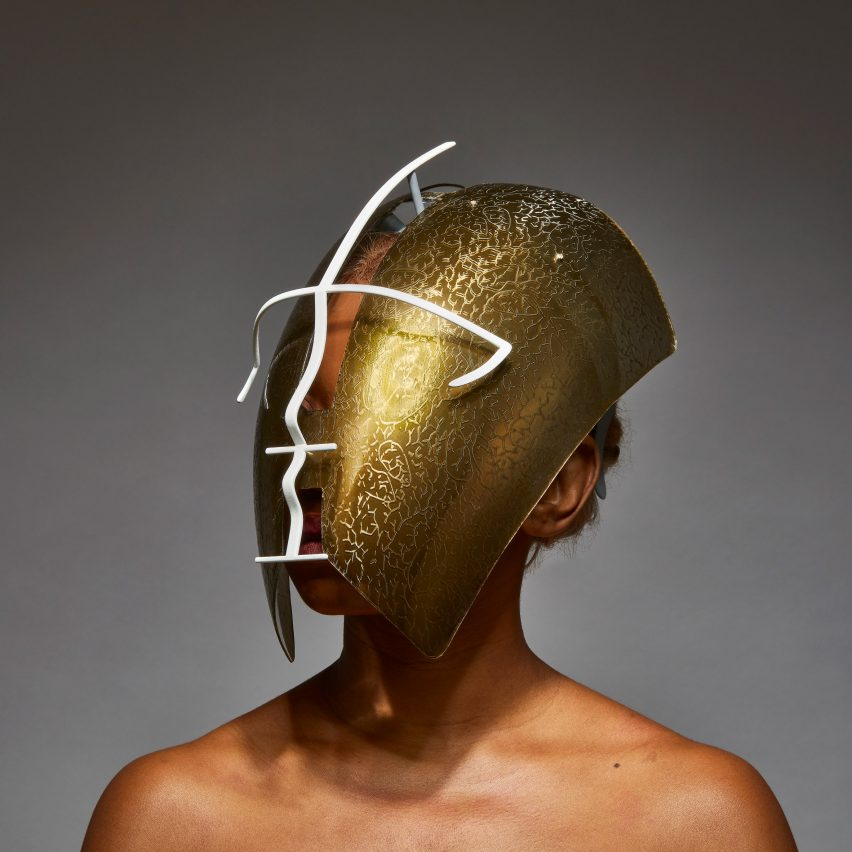 Freedom to Move facemask by Tosin Oshinowo and Chrissa Amuah