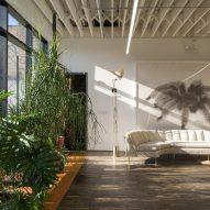 A living area inside of Facilty, Chicago, by Carlo Parente