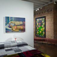A bedroom inside of Facilty, Chicago, by Carlo Parente