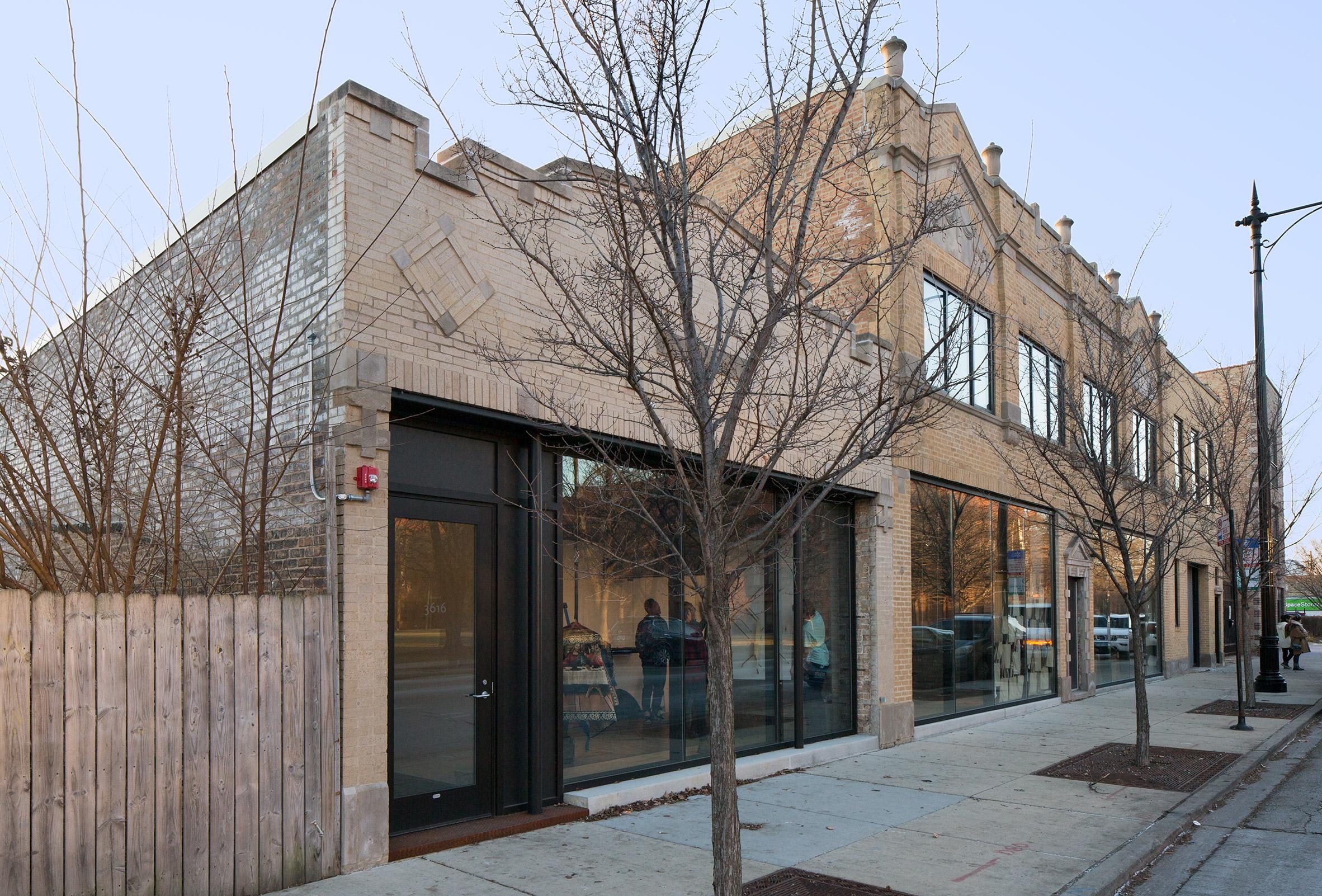 The exterior of the Facilty studios by Carlo Parente