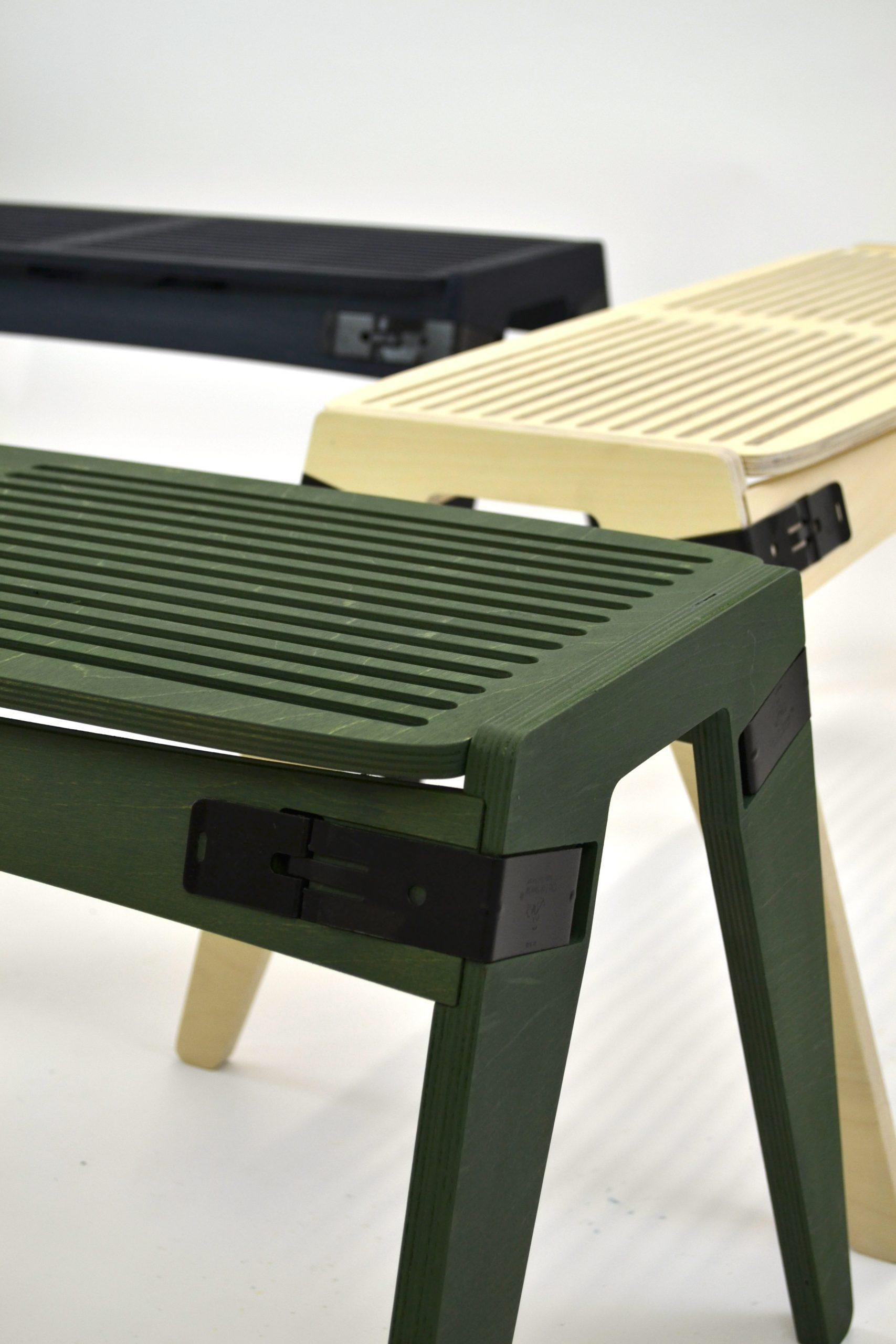 Originals flat-pack bench by Fuzl Studio