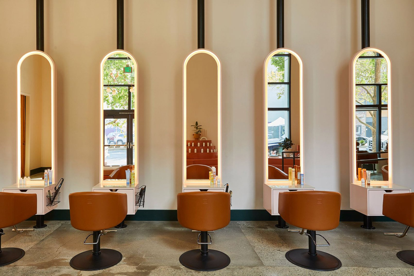 Interiors of GoodBody hair salon in Oakland, California