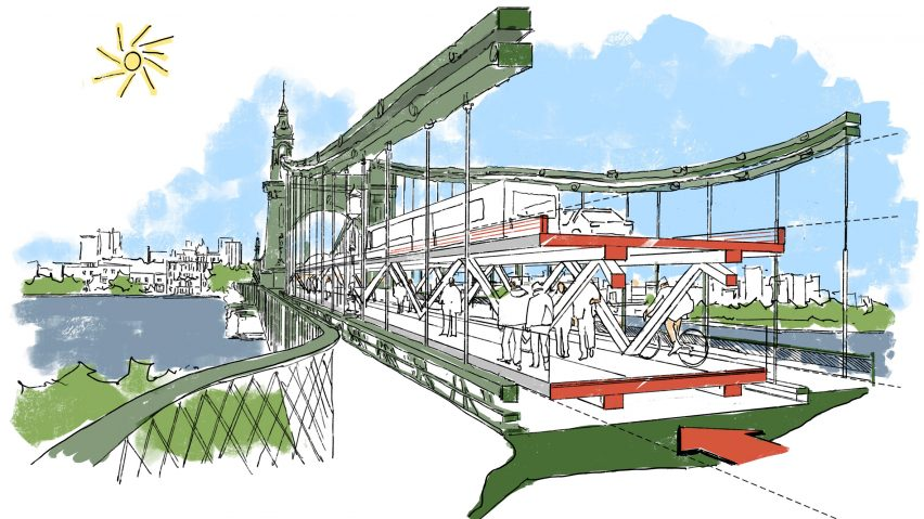 Foster + Partners Hammersmith Bridge concept