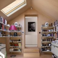 First-floor office in Hampstead House by Dominic McKenzie Architects