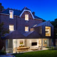 Night view of Hampstead House by Dominic McKenzie Architects