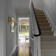 Reinstated staircase in Hampstead House by Dominic McKenzie Architects