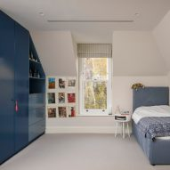 Bedroom in Hampstead House by Dominic McKenzie Architects