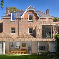 Bronze-clad extension at Hampstead House by Dominic McKenzie Architects