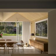 View through to new extension in Hampstead House by Dominic McKenzie Architects