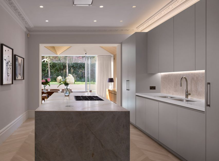 Kitchen in Hampstead House by Dominic McKenzie Architects