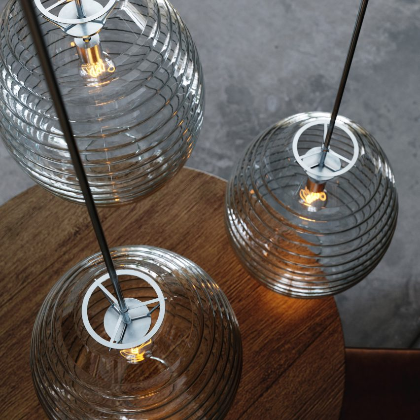 HiveMind pendant light by Kyle MertensMeyer for August Green