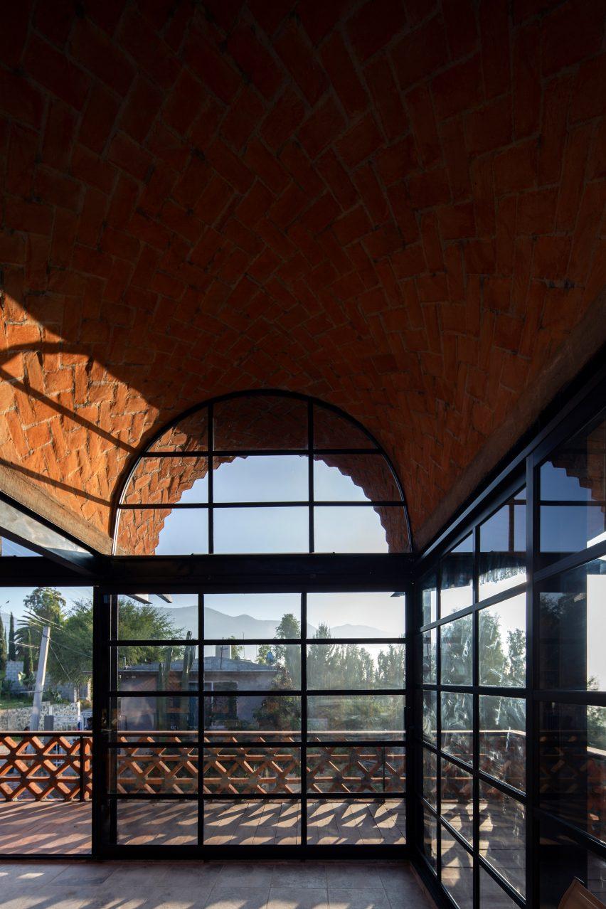 Brick vaults of Hñähñu Multimedia Center by Aldana Sanchez Architects