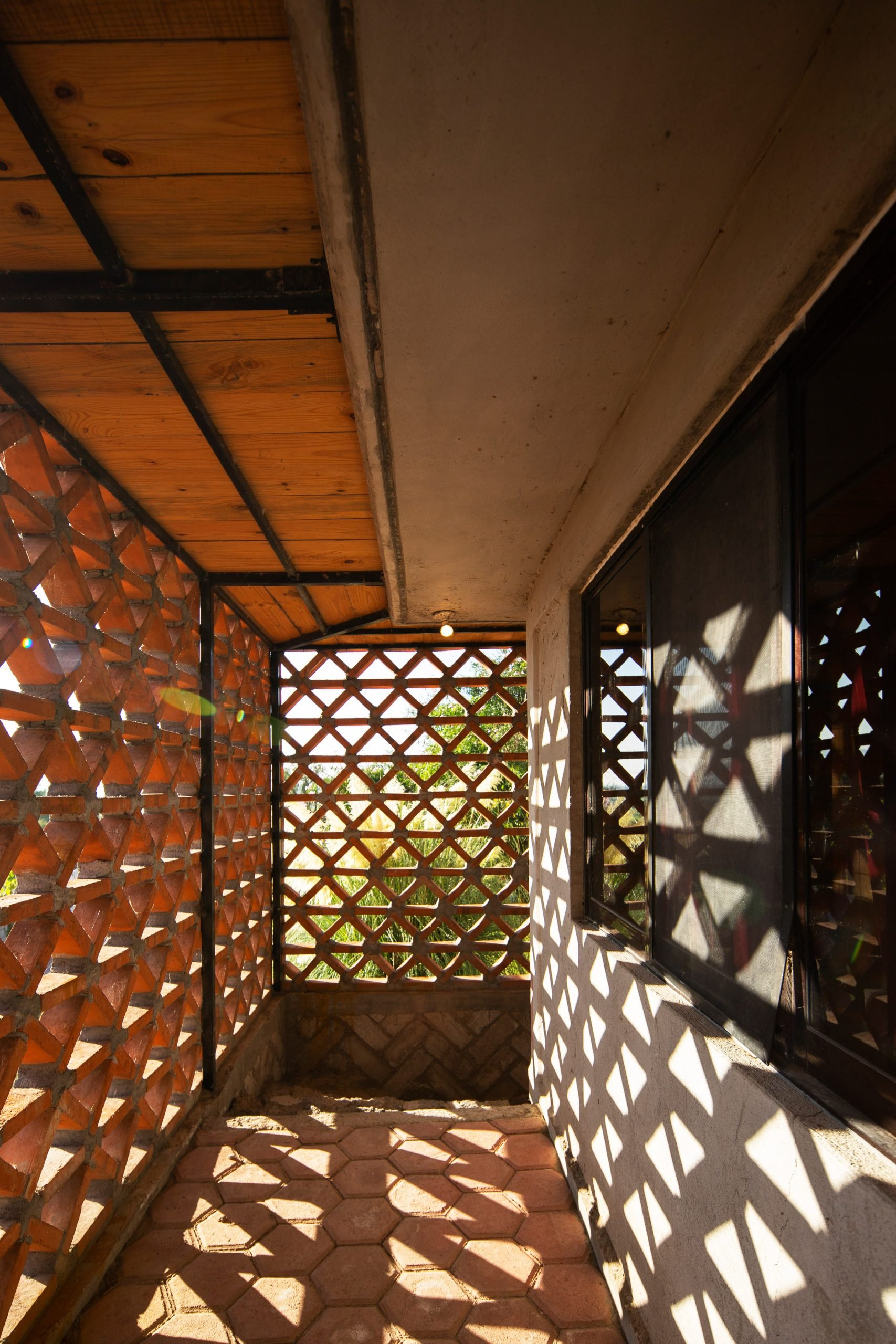 Brickwork lattice of Hñähñu Multimedia Center by Aldana Sanchez Architects