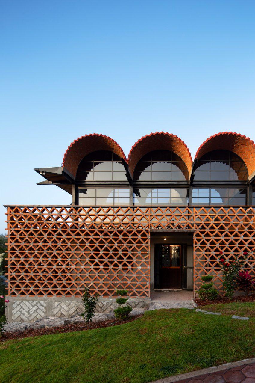 Exterior of Hñähñu Multimedia Center by Aldana Sanchez Architects