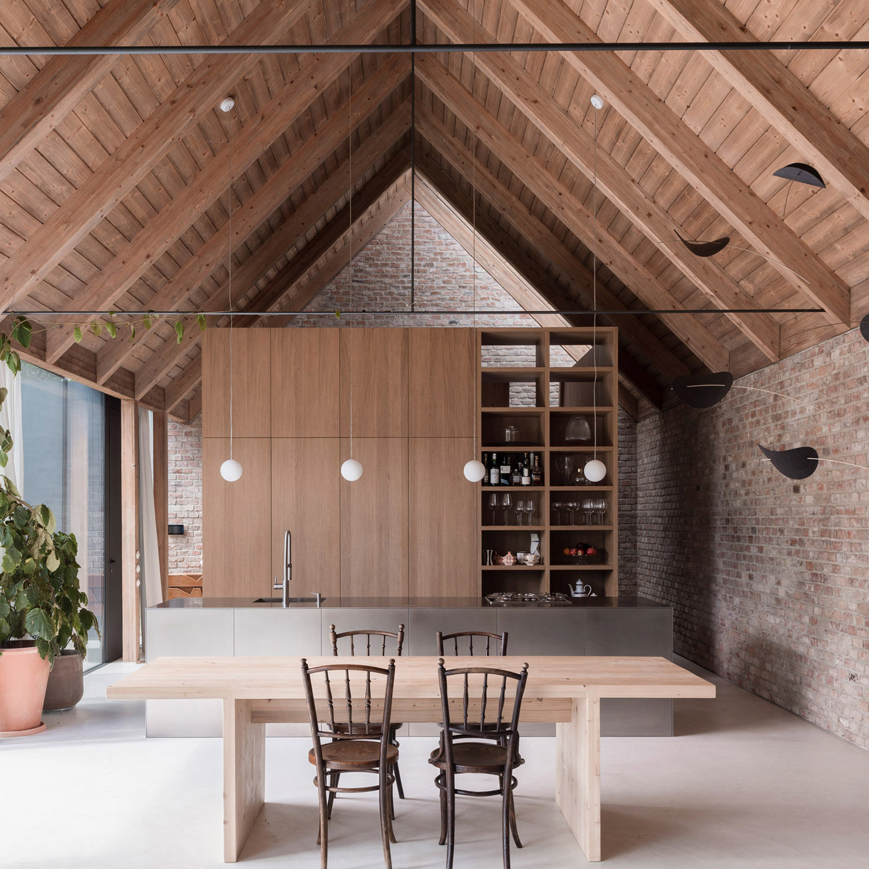 Dezeen's top home interiors of 2020: House V by Martin Skocek