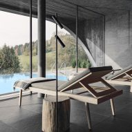 The spa of Hotel Milla Montis by Peter Pichler Architecture