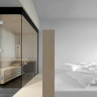 A hotel room in Hotel Milla Montis by Peter Pichler Architecture