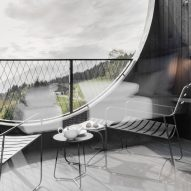 A balcony of Hotel Milla Montis by Peter Pichler Architecture