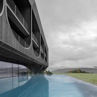 The swimming pool of Hotel Milla Montis by Peter Pichler Architecture