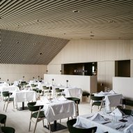 The restaurant of Hotel Milla Montis by Peter Pichler Architecture