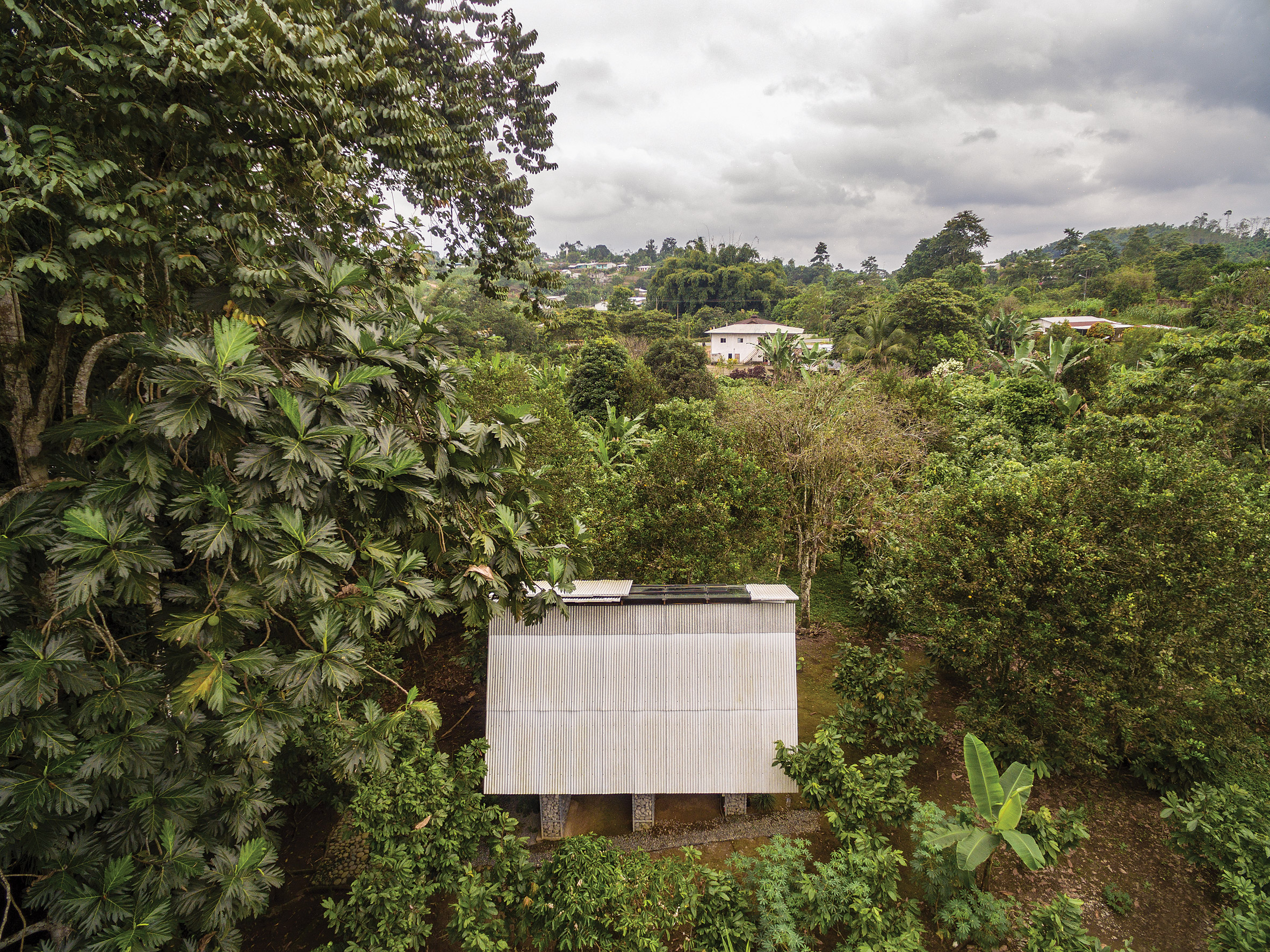 Aerial view of the Huaira by Diana Salvador and Javier Mera in Ecuador