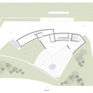 Fifth floor plan of Huamao Museum of Art and Education by Álvaro Siza and Carlos Castanheira
