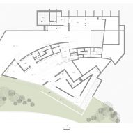 Ground floor plan of Huamao Museum of Art and Education by Álvaro Siza and Carlos Castanheira