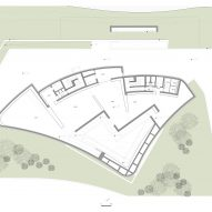 Second floor plan of Huamao Museum of Art and Education by Álvaro Siza and Carlos Castanheira