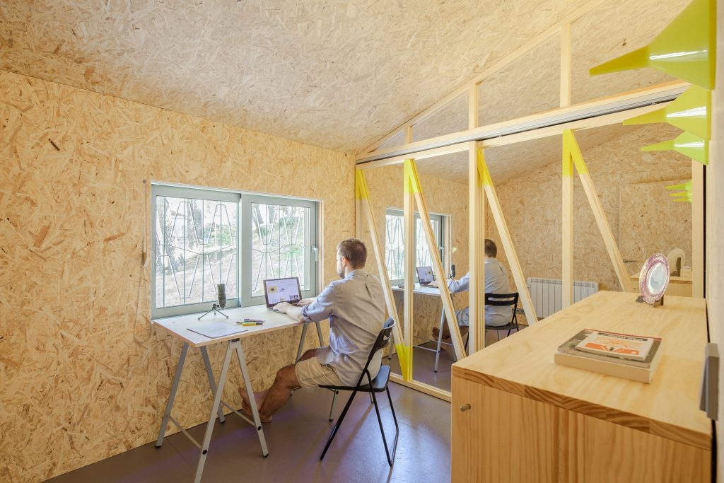Husos Architects creates Love Shack cabin as founder's home and office