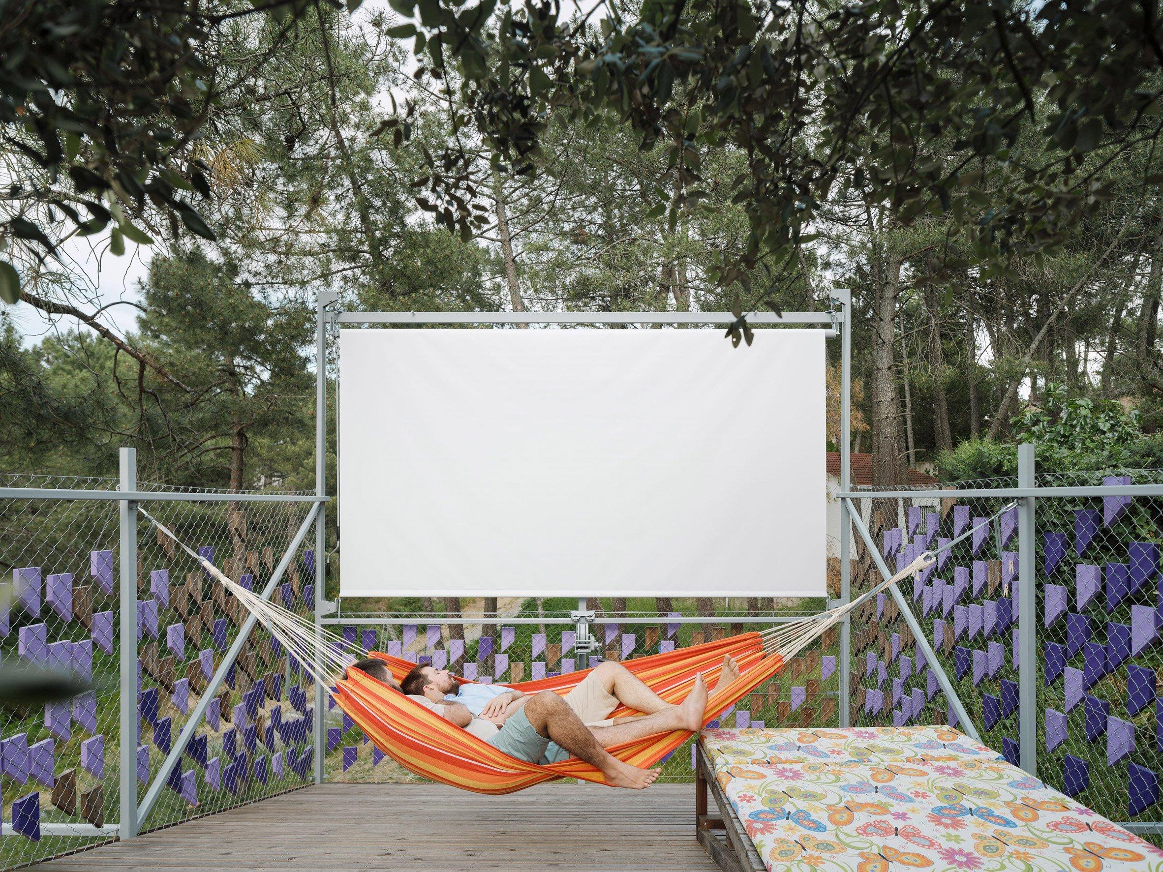 Roof-top film screening area
