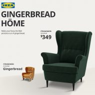 IKEA's Gingerbread Höme furniture features in today's Dezeen Weekly newsletter