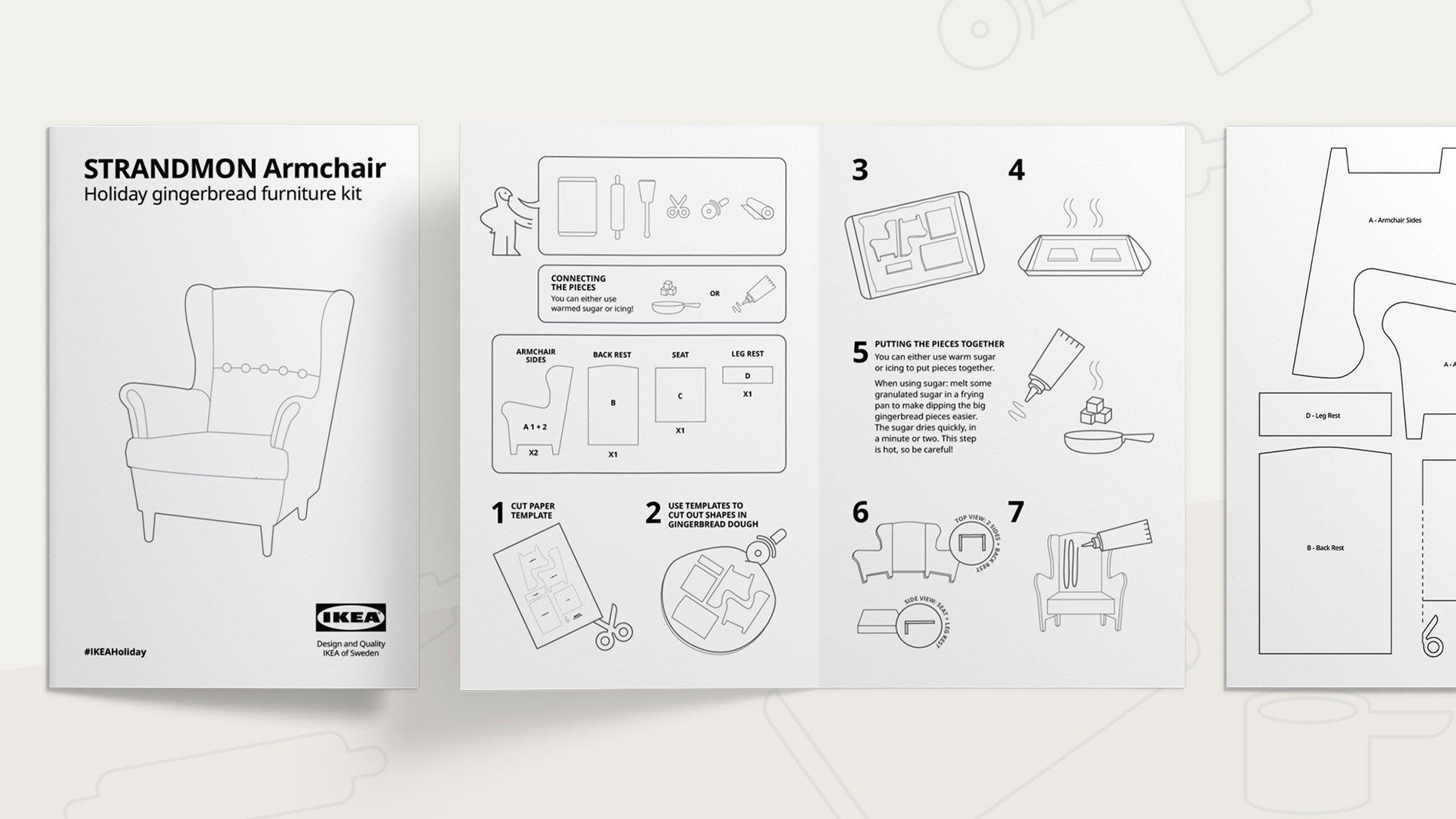 Strandmon chair from IKEA Gingerbread Höme kit