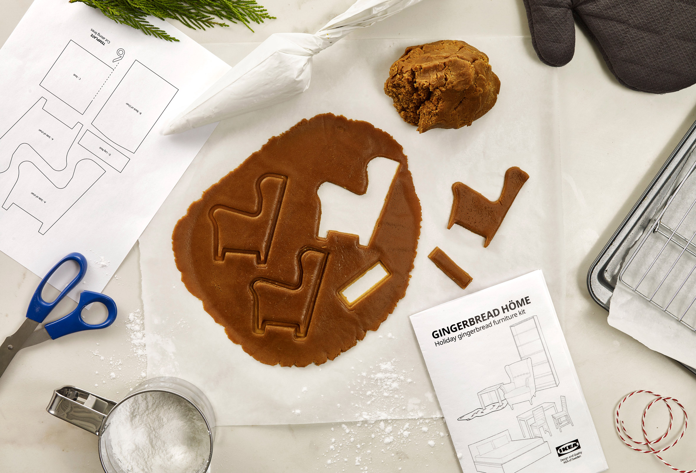 Gingerbread Strandmon chair from IKEA Gingerbread Höme kit