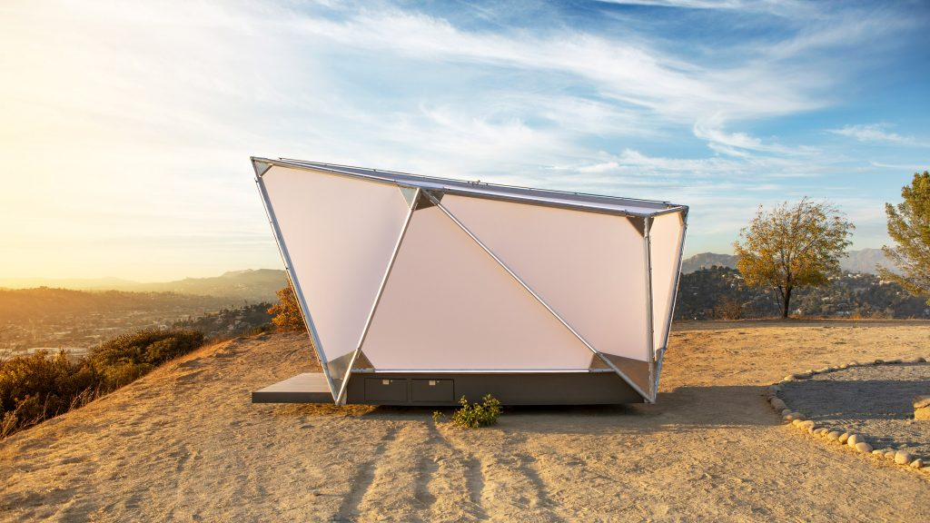 Jupe travel pods are canvas shelters for off-grid living with wifi access