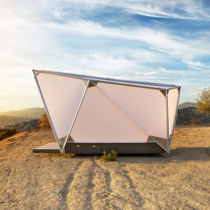 Jupe prefabricated camping shelter