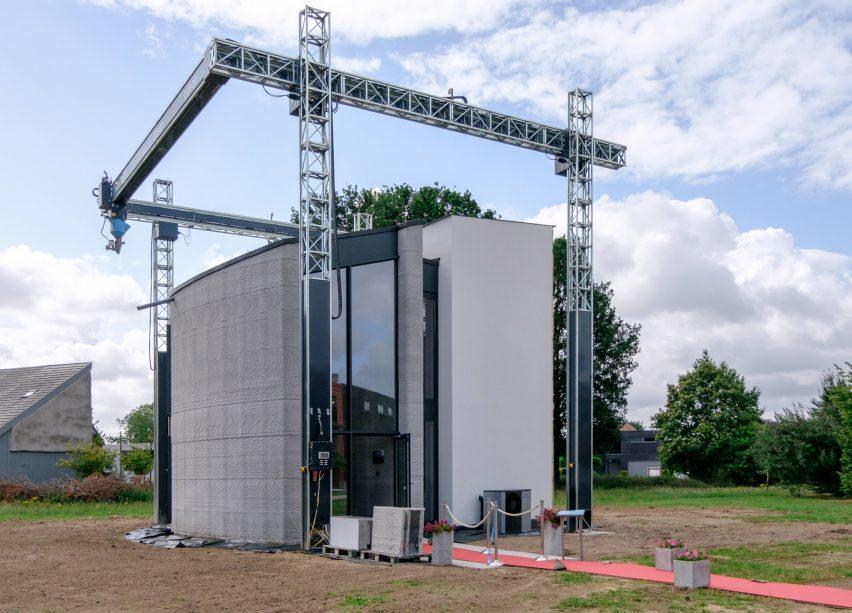 3D-printed house Kamp C, Westerlo, Belgium