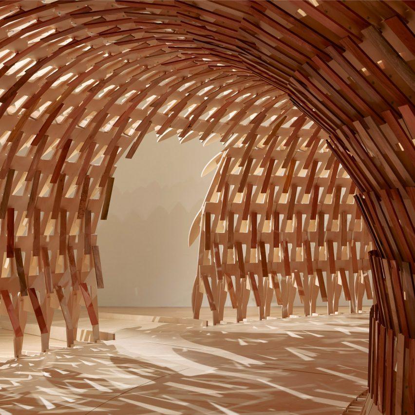 Botanical Pavilion, NGV Triennial, by Kengo Kuma and Geoff Nees