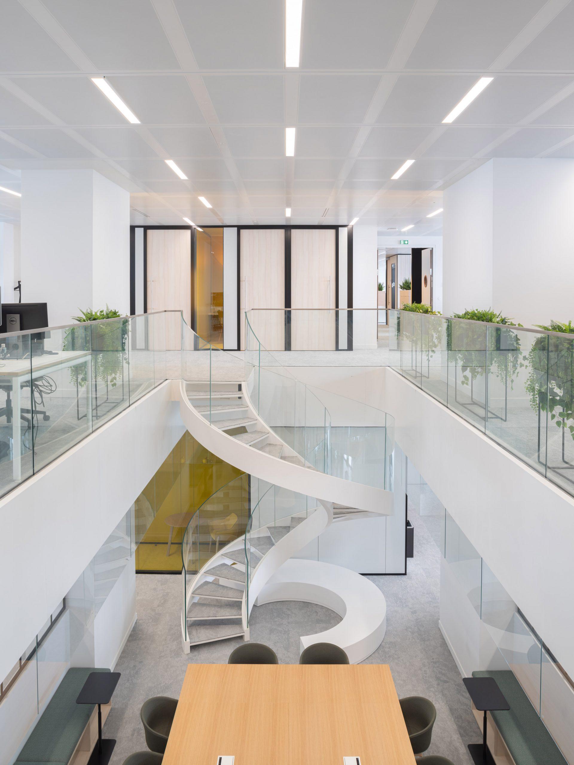Le Monde's office within the Le Monde Headquarters in Paris by Snøhetta