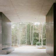 Framed aperture in Loenen Pavilion by Kaan Architecten