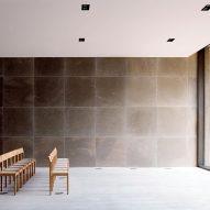 Chairs in auditorium of Loenen Pavilion by Kaan Architecten