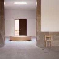 Interior of Loenen Pavilion by Kaan Architecten